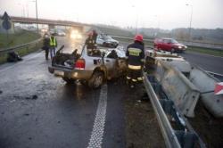 На польской трассе А2 в результате ДТП погибли трое, тяжело ранен ребенок (предположительно наши соотечественники).