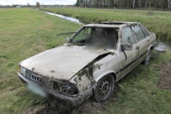 В канаве нашли автомобиль с трупом за рулем