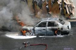 В Орше сожгли автомобиль кандидата в депутаты